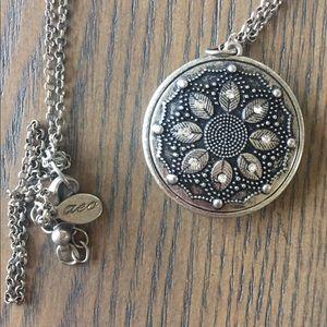 American Eagle Long Silver Pendant Necklace